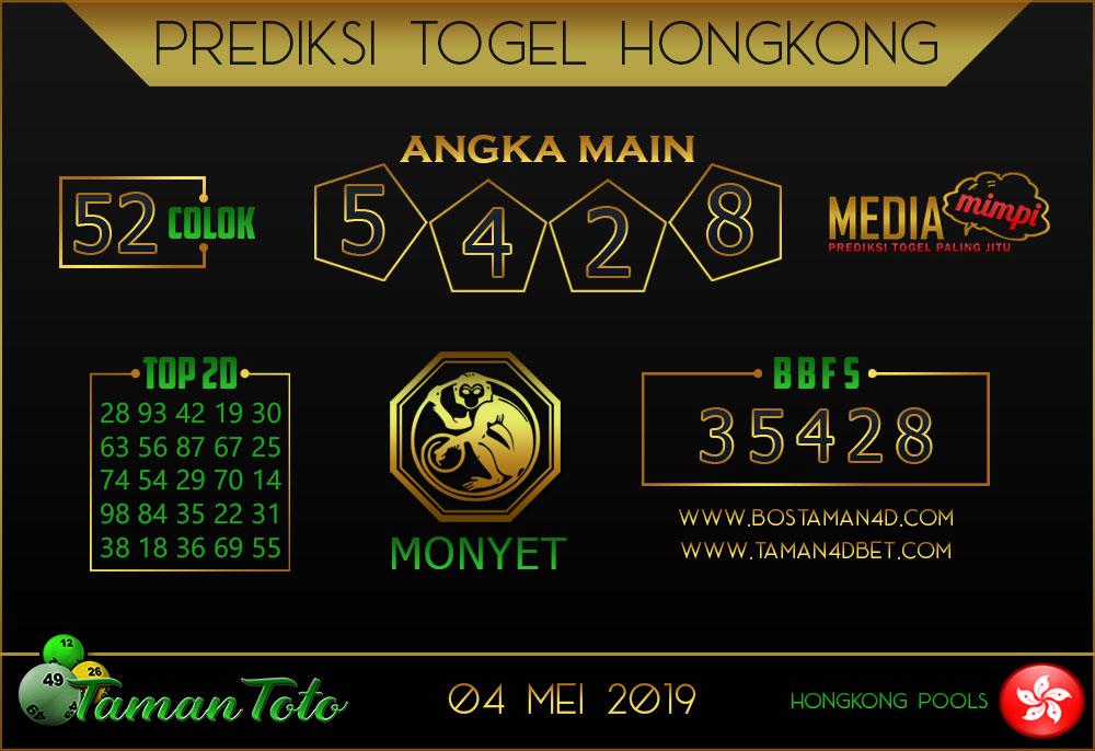 Prediksi Togel HONGKONG TAMAN TOTO 04 MEI 2019