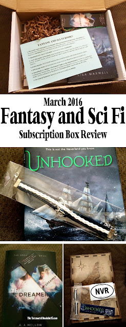 Check out my March 2016 Fantasy and Sci Fi Subscription Box Review