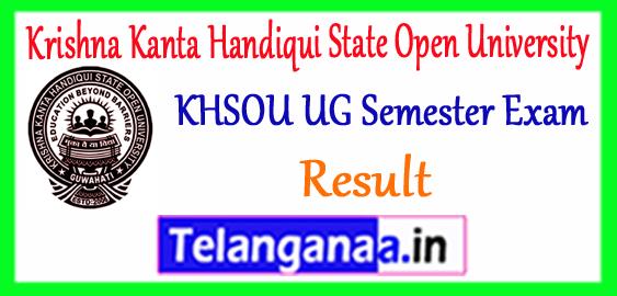 KKHSOU Krishna Kanta Handiqui State Open University UG 2nd 4th 6th Semester Result 2018