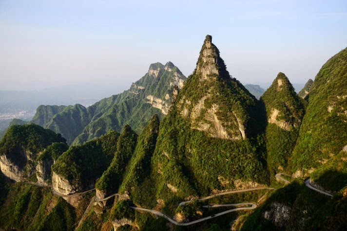 Panoramic Views Transparent Paths And Hanging Cliffs On