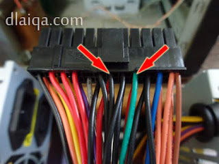 perhatikan kabel yang ditunjuk dengan tanda panah