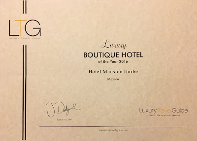 Luxury Travel Awards 2016 - Hotel Mansión Iturbe in Pátzcuaro, México
