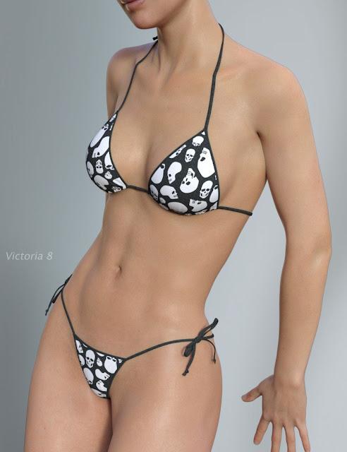 Hongyu's Bikini for Genesis 8 Female