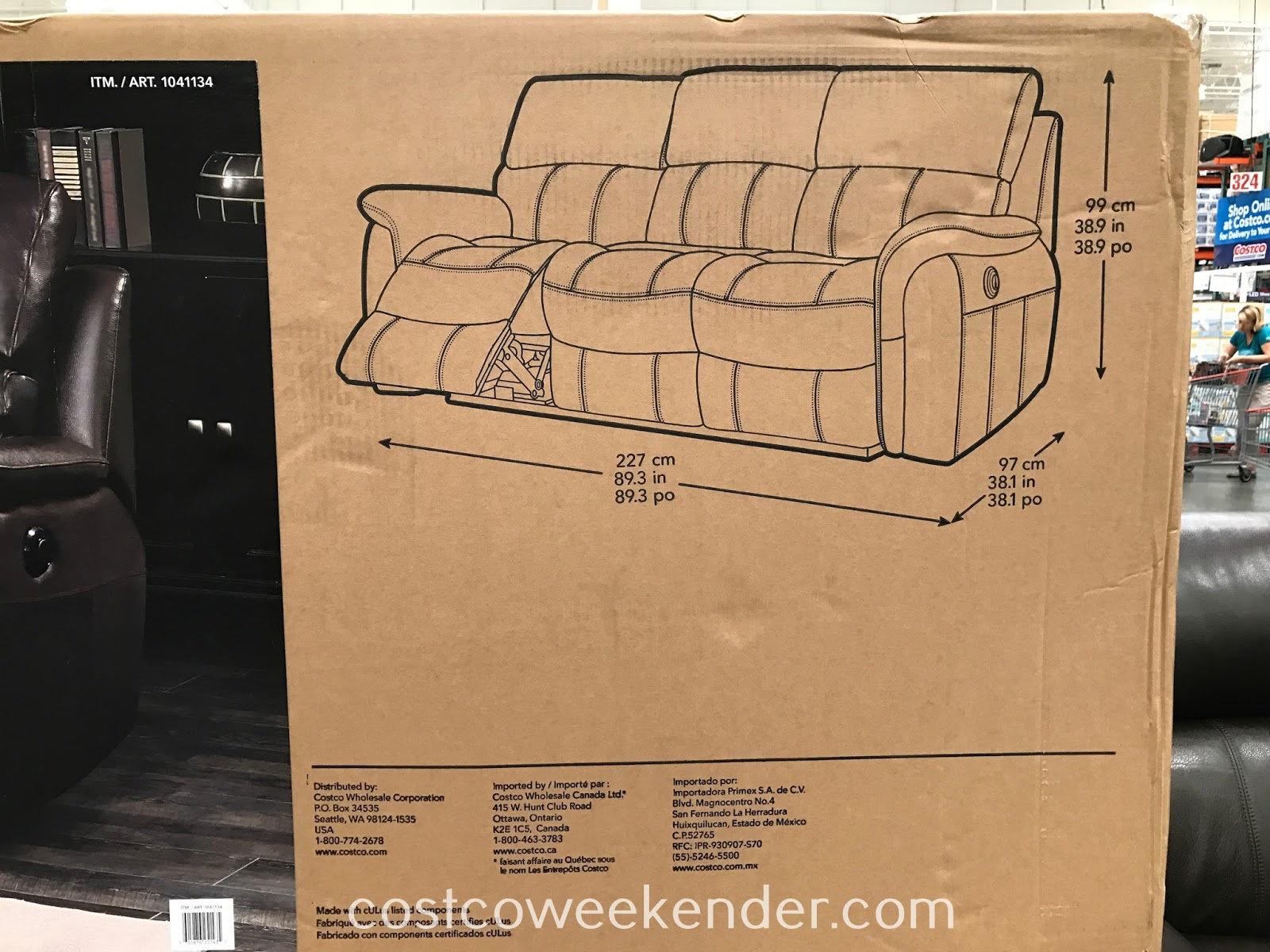 Enjoy family TV time on the Pulaski Furniture Leather Power Reclining Sofa