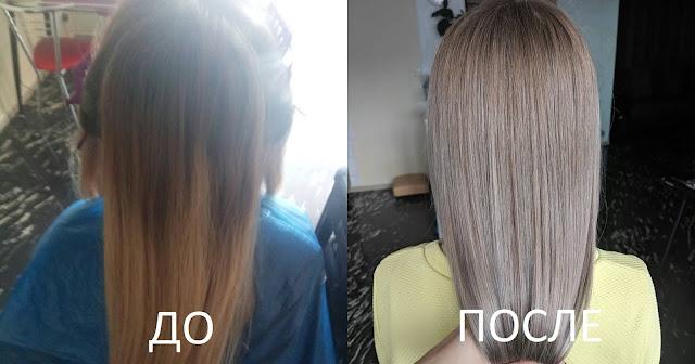 Модная покраска на длинные волосы