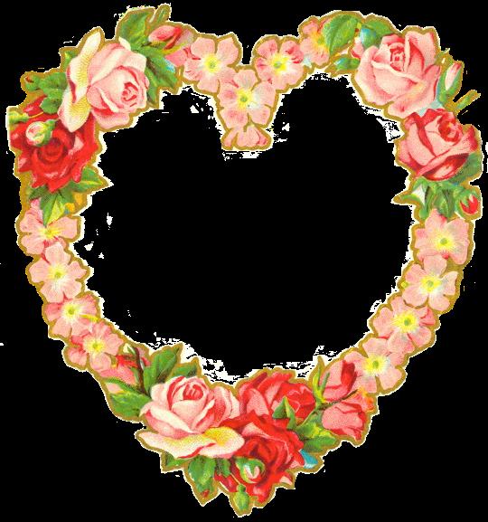 heart floral frame valentine - photo #3