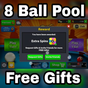 8 ball pool free spin and coin links