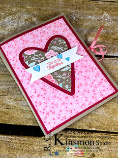 Meant to Be Cling Bundle, All My Love Designer Series Paper, Balmy Blue Stampin' Blend Dark, Heart Epoxy Hearts, All My Love Ribbon Combo Pack, Rick Adkins
