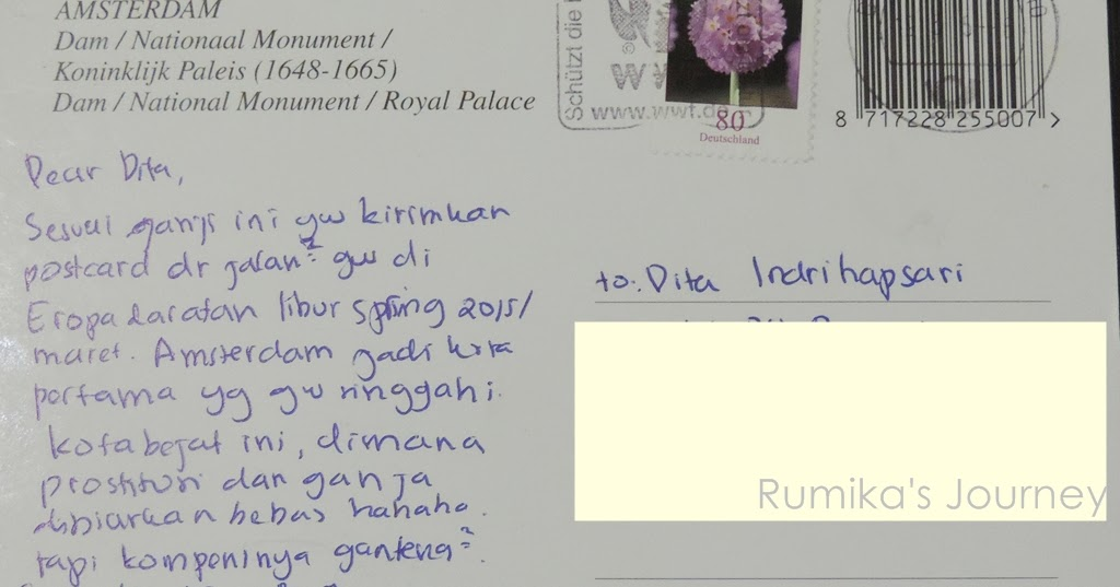 Contoh Postcard Tentang Liburan Dalam Bahasa Inggris Temukan Contoh