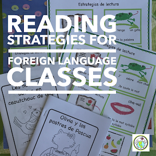 Reading Strategies for World Language Classes Spanish and French Posters