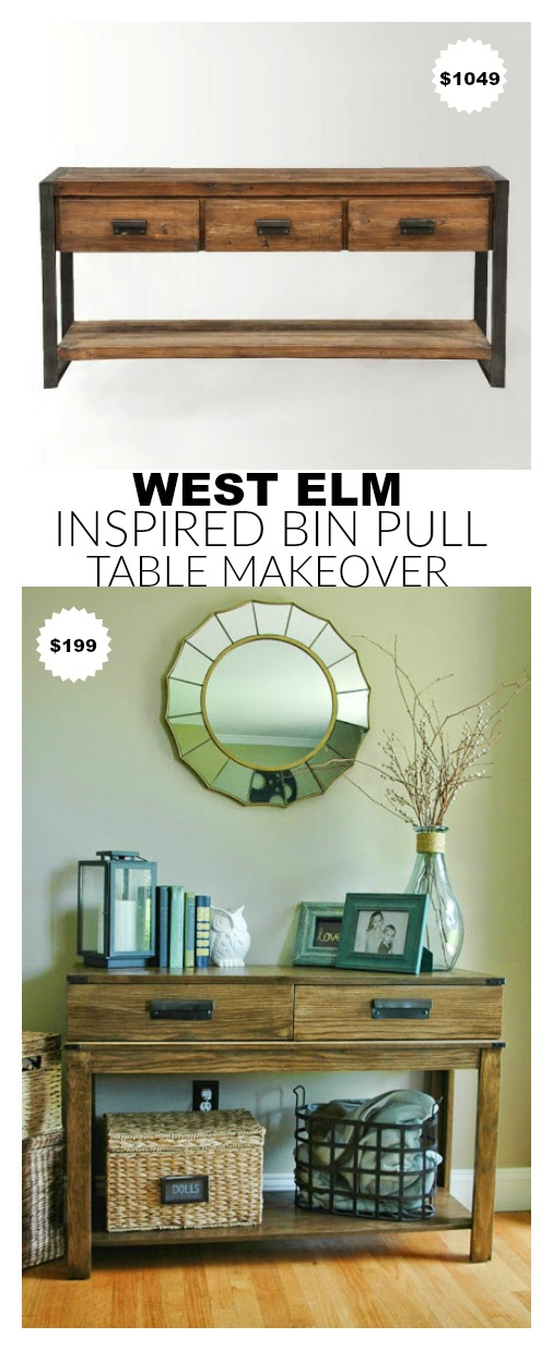 West Elm inspired HomeGoods table makeover