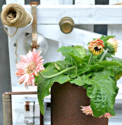 How to Make a Repurposed Rusty Planter