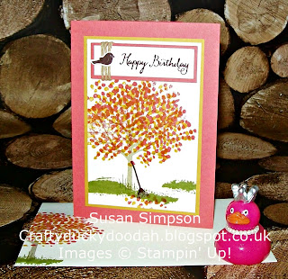 Stampin Up! UK Idependent Demonstrator Susan Simpson, Craftyduckydoodah!, Sheltering Tree, Supplies available 24/7,