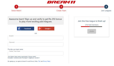 dream11 signup