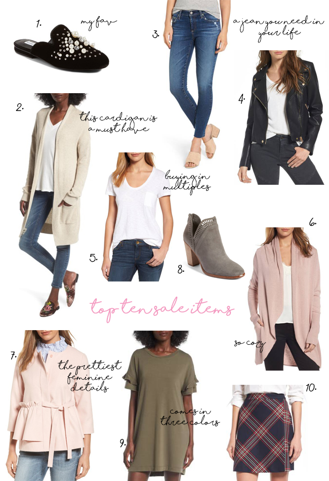 2017 NORDSTROM ANNIVERSARY SALE TOP TEN