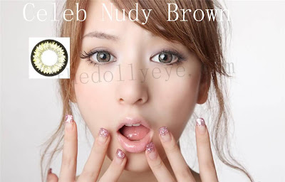 contact lens, celeb nudy brown