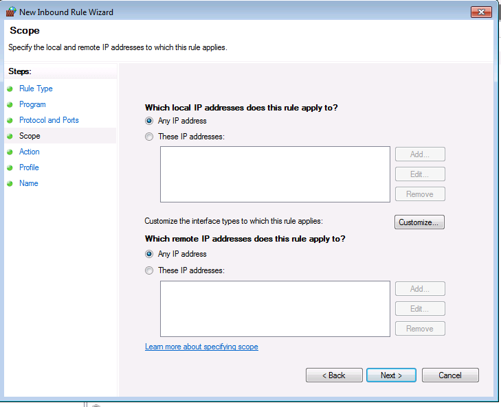 how to allow port 1935 on windows 10