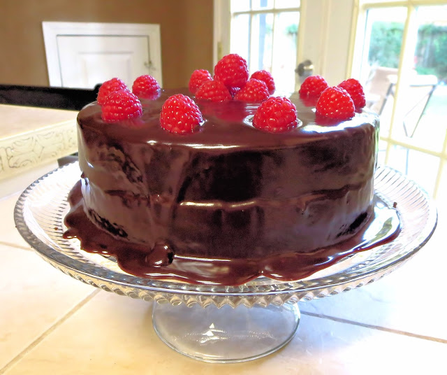Chocolate Ganache and Raspberry Cake 2