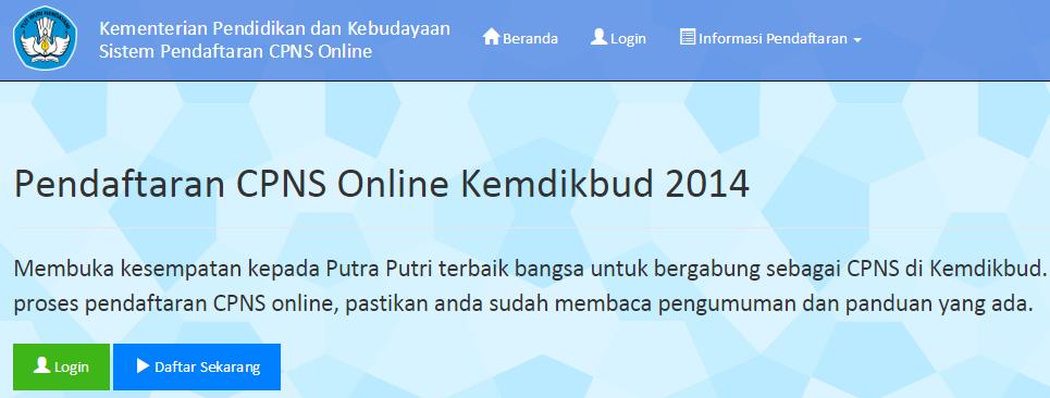 Pengumuman Cpns Guru Pengumuman Penerimaan Pendaftaran Tes Cpns Online 2016 Pendaftaran Cpns Kemendikbud Online 2014 Cpnskemdikbudgoid