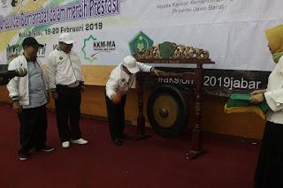 Buka AKSIOMA 2019, Kakanwil Kemenag Jawa Barat Ingatkan Juri Untuk Jujur dan Objektif
