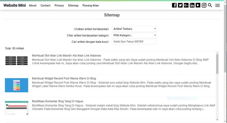 Membuat Sitemap Untuk Blog AMP Pada Halaman Static