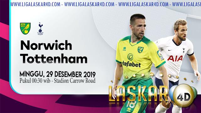 Prediksi Pertandingan Bola Norwich vs Tottenham 29 Desember 2019