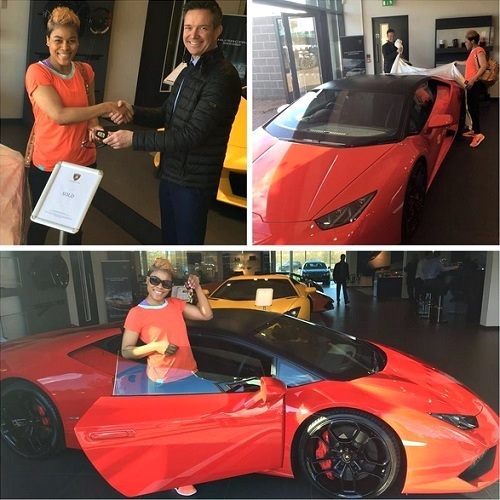 Flamboyant Zimbabwean Pastor Gifts Wife a N79m Lamborghini Luxury Car for Valentine (Photos)