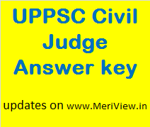 UPPSC PCS J Answer key