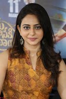 Rakul Preet Singh smiling Beautyin Brown Deep neck Sleeveless Gown at her interview 2.8.17 ~  Exclusive Celebrities Galleries 197.JPG
