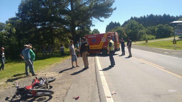Acidente BR 280 em Canoinhas em frente ao Galpão Missioneiro