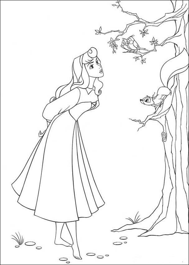 Princess Aurora Coloring Pages