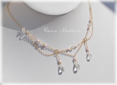 collier mariée romantique