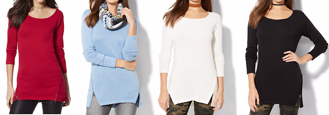 Side Zip Tunic Sweater for only $12 (reg $50)!