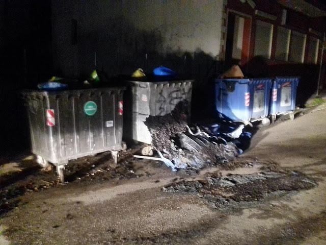 Ηγουμενίτσα: Μπαράζ εμπρησμών το βράδυ σε κάδους σκουπιδιών