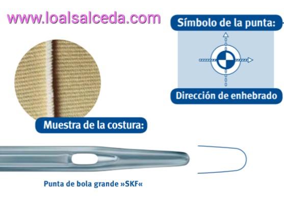 aguja SKF, aguja punta de bola SKF, aguja maquina de coser