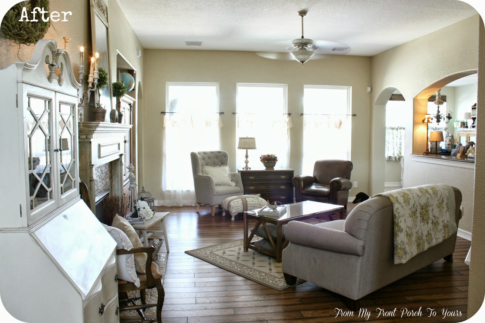 Living Room In French From My Front Porch To Yours French Farmhouse Living Room Reveal