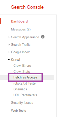 Fitur Fetch As Google