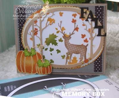 fall deer card supplies
