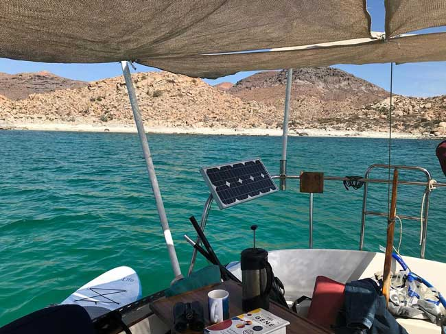 Captain Curran's sailing blog: We built this cockpit awning