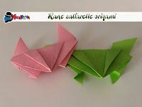 come fare una rana origami