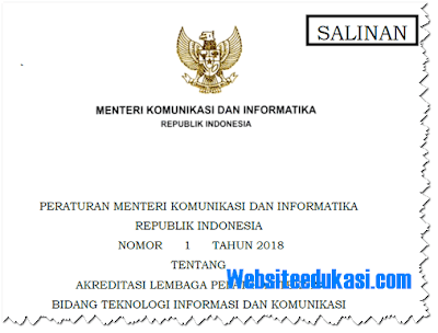 Peraturan Menteri Kominfo Nomor 1 Tahun 2018