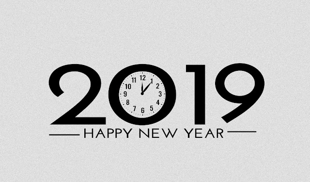 Clock Animation - Happy new year 2019 - PhotoshopCC