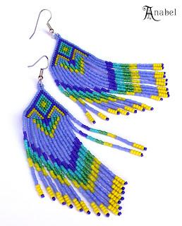 Купить длинные серьги из бисера. Купить авторские украшения из бисера в интернет-магазине.