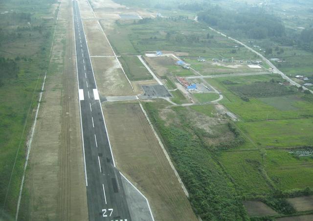 Landasan Bandara Silangit di Tapanuli Utara