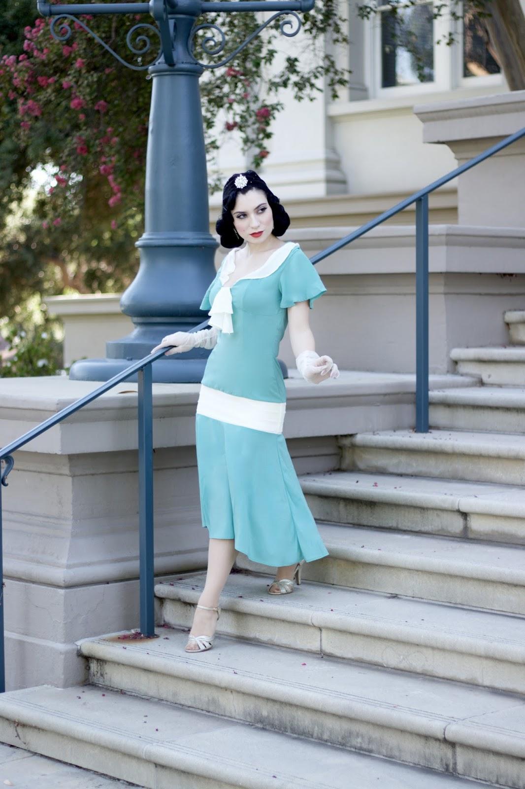 Aqua Flapper Dress hd pictures