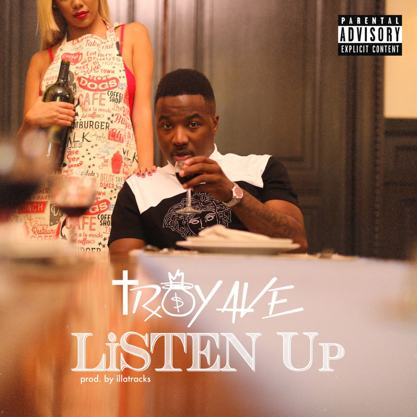 Troy Ave - Listen Up - Single Cover