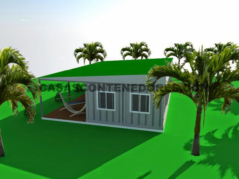casas contenedores casa contenedor sencilla para clima tropical. Black Bedroom Furniture Sets. Home Design Ideas