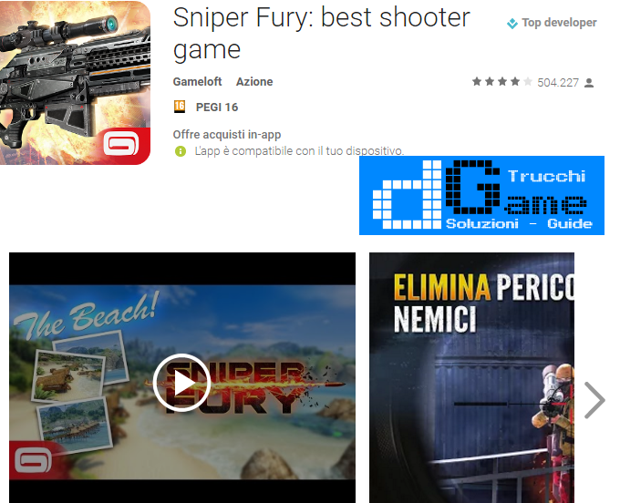 Trucchi Sniper Fury: best shooter game Mod Apk Android v1.7.1a