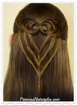 Triple tuck heart hairstyle video tutorial. So pretty! #valentines