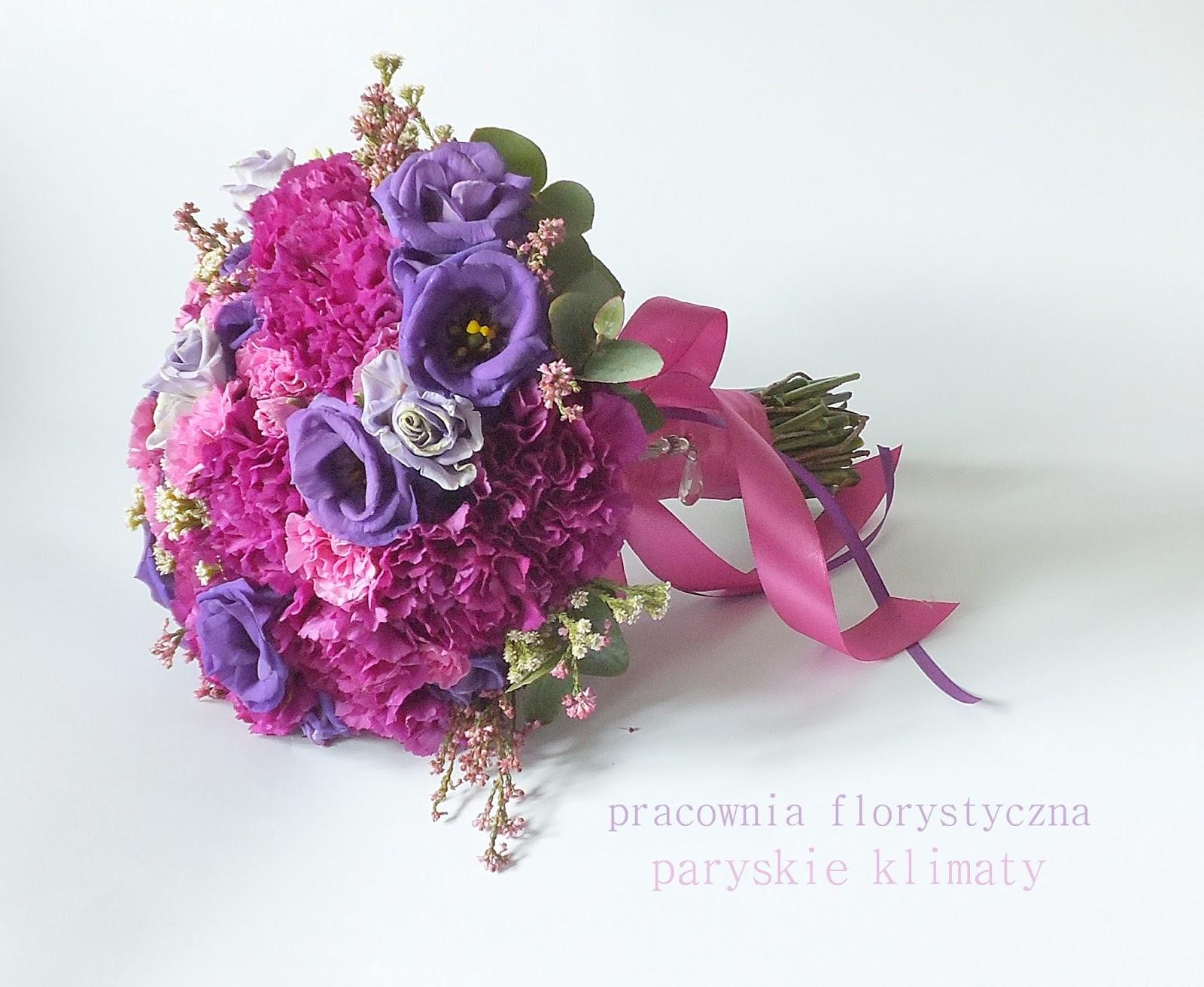 Wedding By Retroparis: Purple Wedding Bouquet * Dark Pink